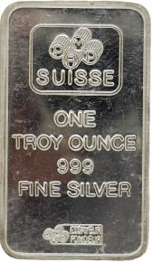 1 Oz Silver Pamp Suisse Bar - Gold Bars For Sale Ontario