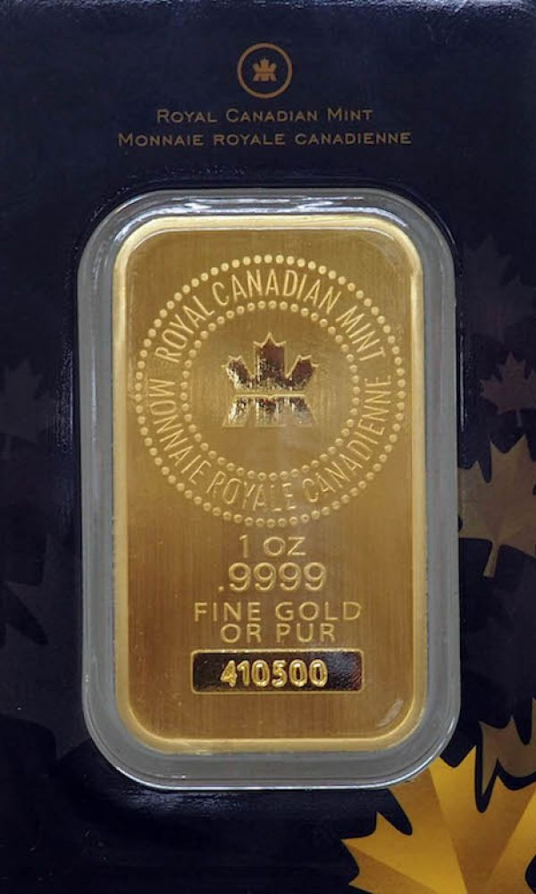 Canadiam Mint Gold Bar
