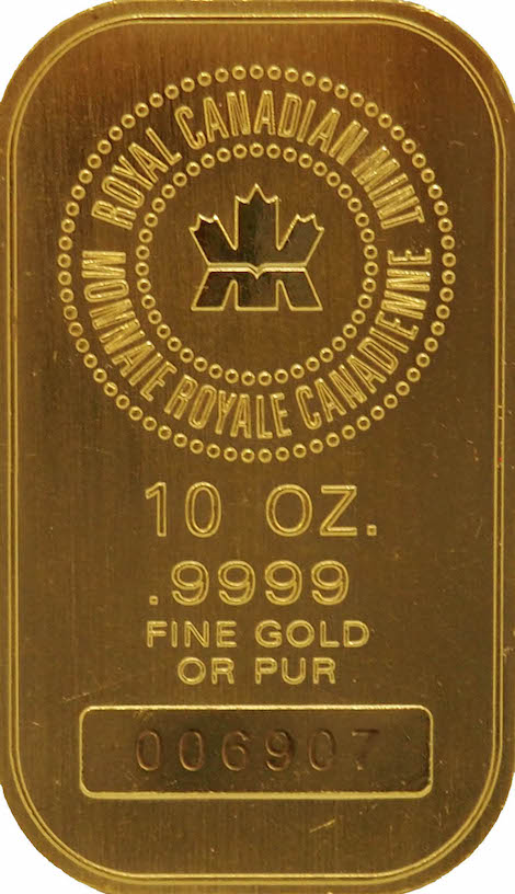 Royal Canadian Mint Gold Bar