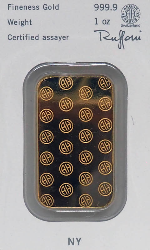 Ounce Gold Bar - Heraeus