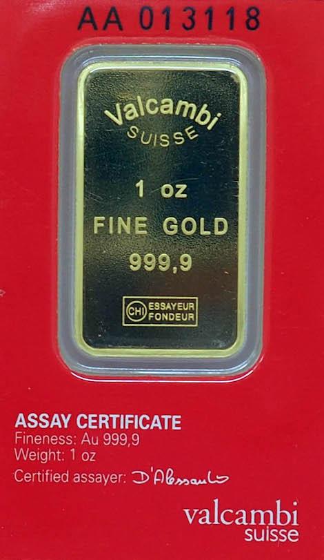 Valcambi Suisse Fine Gold